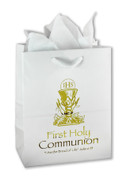 Gold Chalice Gift Bag First Communion Available in 2 sizes CRRSST