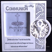 "Blessed Sacrament | Communion Photo Frame | LED Light | 3"" x 3"" Photo"