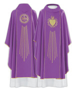 Gothic Chasuble | Sacred Heart | Polish | Available in 4 colors | 085