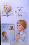 "First Communion Greeting Card | Removable Holy Card | Boy | Italy | 4"" x 6"""