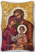 Plaque - Holy Family Style I102 - Available in 2 Sizes