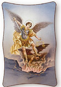 Plaque - St Michael the Archangel Style S53 - Available in 2 Sizes