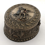 Saint Michael Trinket Box 4 inch Bronze Finish