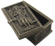 Saint Michael Framed Trinket Box 4 inch-Bronze Finish