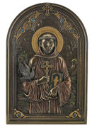 Saint Francis Icon 9 inch Bronze Finish