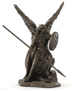 Saint Raphael Statue 3 inch Bronze Finish