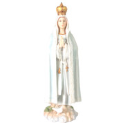 Our Lady of Fatima Color Statue with crown and dove at feet immaculate heart of the blessed virgin Mary