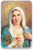 Holy Card of Immaculate Heart of Mary - Spanish Style SIRCC01S