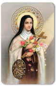 Holy Card of Oracion a Santa Teresa del Nino Jesus