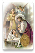 Holy Card of Oracion de Comunion Girl - Spanish