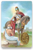 Holy Card of Oracion a San Martin Caballero - Spanish