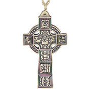 Pectoral Celtic Cross in Pewter - Style TS1664P