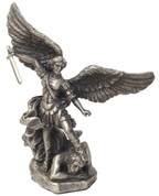 Statue of the St Michel in Pewter Finish - Style PT10478