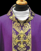Chasuble with Gold Italian Brocade - Style ALB2133