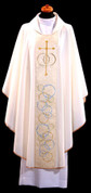 Chasuble in White for Weddings - Style ALB154