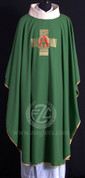 Chasuble with Alpha and Omega Design - Style HF1005 available in 2 colors