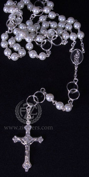 Rosary | Silver Wedding Rings | Pearl | LALRL39S