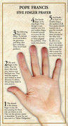 Holy Card | Pope Francis | Five Finger Prayer | BCHZ5985