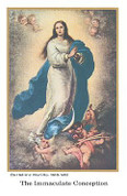 Holy Card | Immaculate Conception | Hail, Holy Queen Prayer | BCHG219AH013