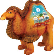 Folk Nativity Camel DeBrekht Derevo Folk Nativity Russian Hand-Painted Wood-Resin Blend 5 Inches tall GDB526271