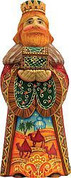 King Melchior Piece DeBreckht Folk Nativity Collection Hand-Painted Russian Style Art 5 and 1 half inches GDB526322