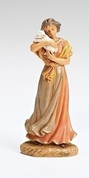 1 Piece Nativity Maia Lady With Lamb from Fontanini  family heirloom nativity collection stands 5 inches tall RO54073