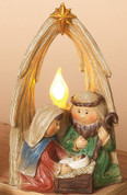Lighted Holy Family Nativity Figurine made of Resin is 6 and 1 half inches tall GER2159480B