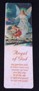 Angel of God Bookmark with Guardian Angel & Prayer Laminated 5 inches EGPVCS02EN