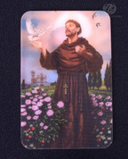 Holy Card | St Francis and Pope Francis  | Lenticular Printed 2D