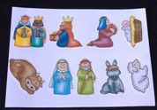 Sticker Sheet | Children's Nativity Characters | 9 Stickers