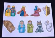 Sticker Sheet | Children's Nativity Characters | 9 Stickers