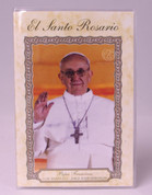 El Santo Rosario Booklet with Papa Francisco on cover in Spanish