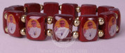 Bracelet with Pope Francis Wooden Tiles and Elastic RI48002PF