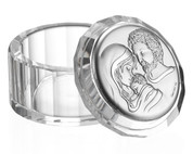 Crystal Box | Holy Family Lid | Silver Finish