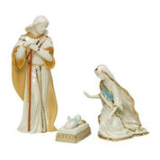 Holy-Family-Set-Porcelain-In-Combination-Glazed-and-Bisque-Finishes-Hand-Painted-24K-Gold-Accents-stands-8-and-5-eighth-inches-LEN6238430