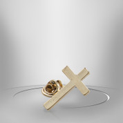 Lapel Pin Cross Gold Finish TIE1008