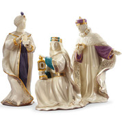 3 Pc Nativity | Kings | Lenox | Porcelain | Ivory | First Blessings | 8""