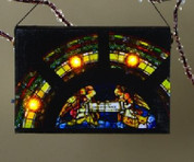 "Ornament Lighted Canvas Gloria Angels   3.5"" X 5"""
