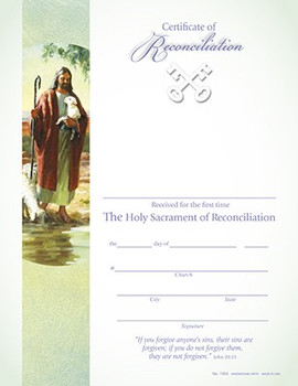 Certificate for Reconciliation Good Sherpherd HT1553