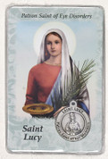 Prayer Card with Medal for St Lucy LUM14500LUCYP