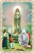 Our Lady of Fatima Medal Prayer Card EGPVCM25