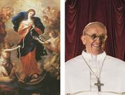 Our Lady Undoer of Knots with Pope Francis 2D Holy Card EGA124