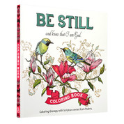 Be Still Inspirational Adult Coloring Book  Paperback 9781432114893