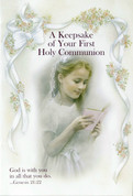A Keepsake Of Your First Holy Communion Gift Set for a Girl includes booklet, bookmark and rosary RI11400COG