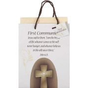 Gift Bag First Communion Cross Medium DIGB489