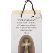 Gift Bag First Communion Cross Medium DIGB489