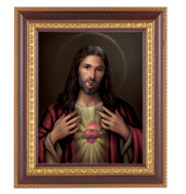 Sacred Heart of Jesus Framed Print in Cherry HI126115