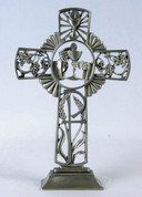 First Communion Standing Cross Pewter JC5552E