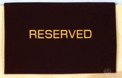 Pew Sign Reserved Velvet Drape Design FLRURC6