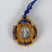 Pendant Ave Maria Miraculous Medal in Wood LALRL71BL